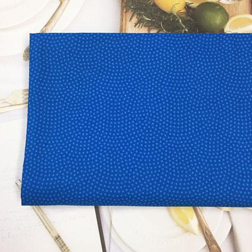 110cm / 면20수: 잔잔한 2mm도트(블루)_45200