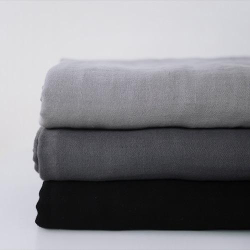 140cm / 대폭 바이오워싱 삼중거즈  : 휘핑크림 3color(그레이계열)_45191