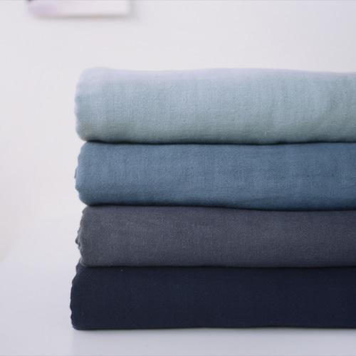 140cm / 대폭 바이오워싱 삼중거즈  : 휘핑크림 3color(블루계열)_45192